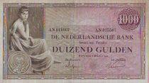 Netherlands 1000 Gulden Woman seated