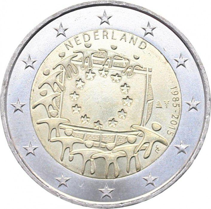 Netherlands 2 Euros 30 years of European Flag - 2015