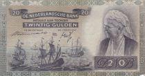 Netherlands 20 Gulden 1940 - Wilhelmina, Ships, City