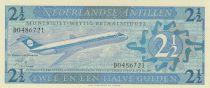 Netherlands Antilles 2 1/2 Gulden, Jetliner - 1970