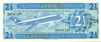 Netherlands Antilles 2 1/2 Gulden, Jetliner - 1970