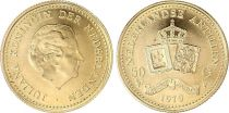 Netherlands Antilles 50 Gulden - Juliana - Arms - 1979 - Gold