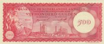 Netherlands Antilles 500 Gulden 1962 -  Oil refinery of Curacao