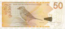 Netherlands Antilles P.30.f 50 Gulden, Refous-collared sparrow - 2012