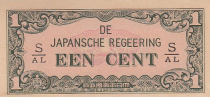 Netherlands Indies 1 Cent - Green and pink - 1942