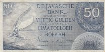 Netherlands Indies 50 Gulden - Sailboat - 1946 - P.93 - F to F+