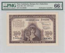 New Caledonia 100 Francs Minerva 1944 Specimen - PMG 66 EPQ - P.46