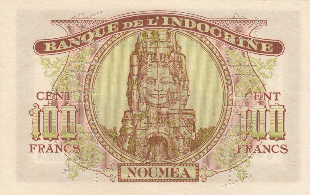 New Caledonia 100 Francs Minerva 1944 Specimen - Unc  - P.46