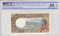 New Caledonia 100 Francs Tahitienne - 1969 - Specimen - PCGS 64OPQ