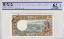 New Caledonia 100 Francs Tahitienne - 1971 - Specimen - PCGS 62OPQ