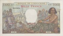 New Caledonia 1000 Francs ND1938 Market scene - PCGS MS 64