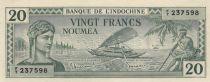 New Caledonia 20 Francs Australian printing - 1944 - Annulé  - UNC - P.49s - Serial FT