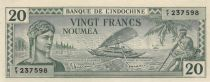 New Caledonia 20 Francs Australian printing - 1944 - Annulé  - UNC - P.49s - Serial FT