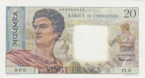 New Caledonia 20 Francs Young farmer - ND (1951) - Specimen - P.50