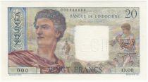 New Caledonia 20 Francs Young farmer - ND (1954) - Specimen - P.50 - UNC