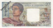 New Caledonia 20 Francs Young farmer - ND (1963) - Specimen - P.50