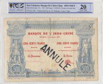 New Caledonia 500 Francs Vasco de Gama - 1921 - PCGS VF20 - P.22