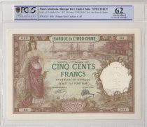 New Caledonia 500 Francs Woman, boats 27-12-1927, Specimen - PCGS MS 62