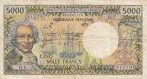 New Caledonia 5000 Francs - 1975 - NOUMEA - P.65b - VF - Serial G.1