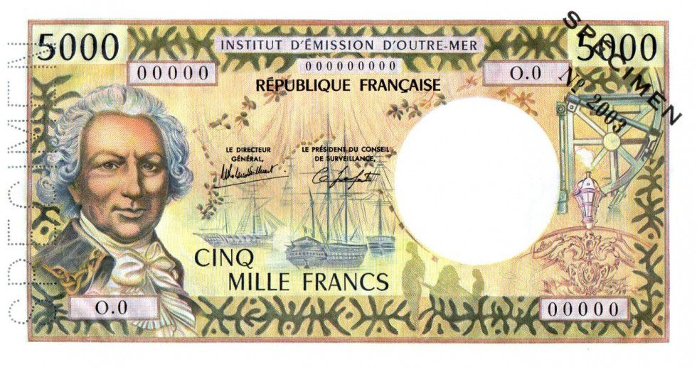 New Caledonia 5000 Francs Bougainville - 00/00/1982