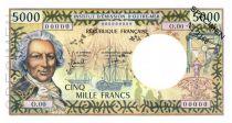 New Caledonia 5000 Francs Bougainville - 1971