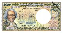 New Caledonia 5000 Francs Bougainville - 1971