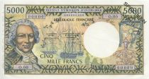 New Caledonia 5000 Francs Bougainville - postel-Vinay - 1971