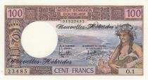 New Hebrides 100 Francs Tahitienne - 1977 serie 0.1