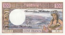 New Hebrides 100 Francs Tahitienne - 1977 serie U.1 - UNC