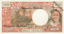 New Hebrides 1000 Francs - ND 1975 - Specimen - P.20