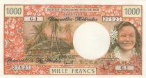 New Hebrides 1000 Francs Tahitian woman - 1980 Serial G.1 - UNC