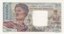 New Hebrides 20 Francs 1945 - Specimen - Unc - P.8as