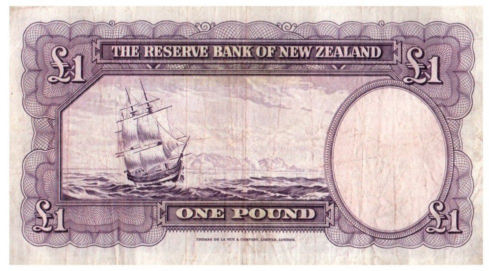 New Zealand 1 Pound Capt. James Cook - Boat