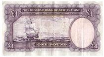 New Zealand 1 Pound Capt. James Cook - Boat