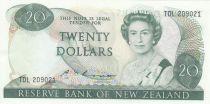 New Zealand 20 Dollars Elizabeth II - Pigeon - AU - P.173b