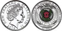 New Zealand 50 Cents Armistice 1918 - 2018 - WWI colorised