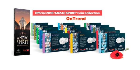 New Zealand Set of 15 coins 100 years of Spirit of Anzac 1918-2018 -  WWI