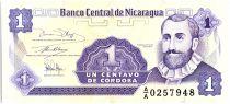 Nicaragua 1 Centavo, Fransisco de  Cordoba  - 1991