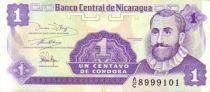 Nicaragua 1 Centavo F.H. Cordoba - Flower