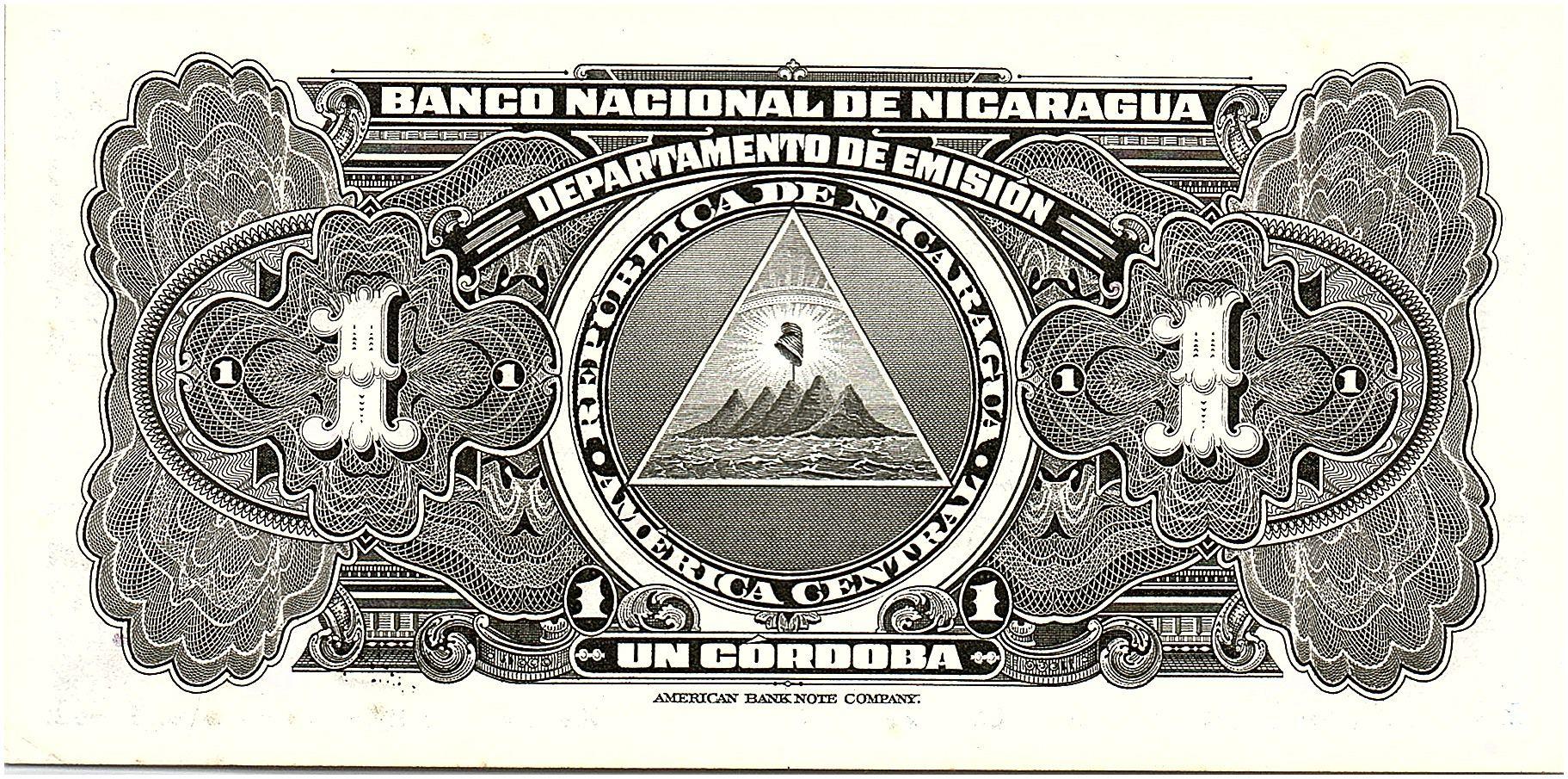 Nicaragua 1 Cordoba Femme indienne - 1945 - SPL - P.90 - 4194284