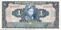 Nicaragua 1 Cordoba Indian woman - 1945 - p.Neuf - P.90
