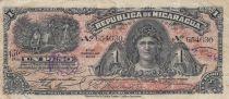 Nicaragua 1 Peso Head of Woman - 1906 - F to VF - P.35
