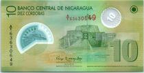 Nicaragua 10 Cordoba Château Immaculada concepcion - Polymer - 2007