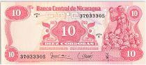 Nicaragua 10 Cordobas,  Andres Castro - 1979