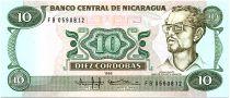 Nicaragua 10 Cordobas,  Carlos Fonseca Amador - 1988