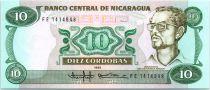 Nicaragua 10 Cordobas Commander Carlos Fonseca Amador - 1985 (1988)
