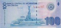 Nicaragua 100 Cordobas A Rubben Dario - Cathedrale de Leon