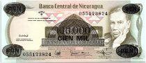 Nicaragua 100000 Cordobas on 500 Cordobas,  Ruben Dario - 1987