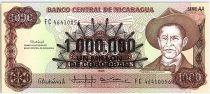 Nicaragua 1000000 Cordobas sur 1000 Cordobas,  Général A. C. Sandino - 1990