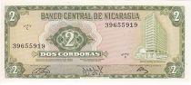 Nicaragua 2 Cordobas Central Bank - Furrows